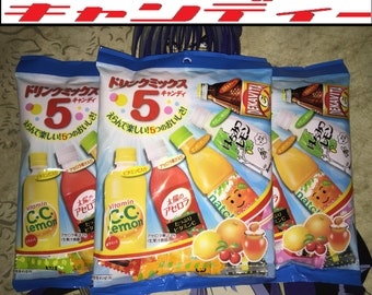 3 BAGS of Lotte Japanese Vending Machine Drink Mix Candies