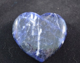 Sodalite Crystal Heart for meditation, healing & Reiki