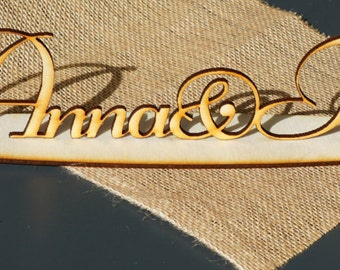 Personalised WEDDING table DECOR * Custom wedding decor * custom wedding decor * custom plywood words * wooden letters with names