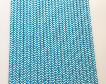 ROYAL BLUE CHEVRON Paper Straws / Party Straws / Party Decor / Chevron Straws / Paper Party Straws / Blue Straws / Drinking Straws