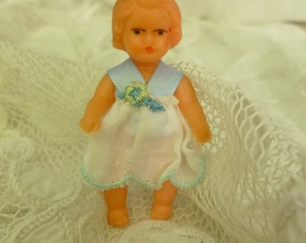 Vintage Miniature Doll 70s. Miniature Dollhouse Baby Doll