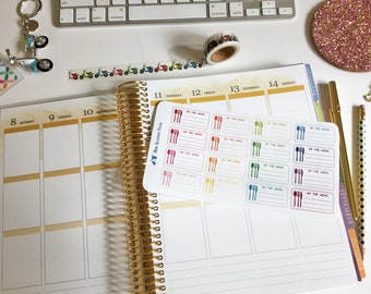 On The Menu Meal Planning Label Stickers. 16 MATTE Planner Stickers!