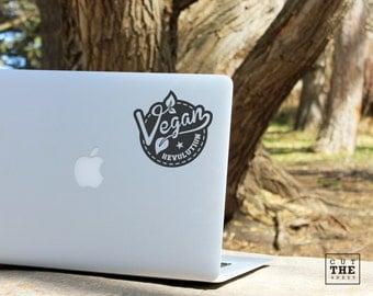 Vegan Revolution - Laptop Decal - Laptop Sticker - Car Decal - Car Sticker