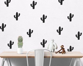 Cactus decal, Cactus Wall Decal, decals for walls,  Cactus wall sticker, cactus sticker, stickers cactus, cacti, wall mural #058