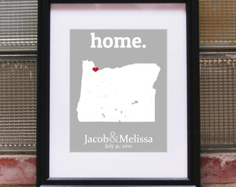 Pacific Northwest Art, Pacific Northwest Print, Pacific Northwest Map, Pacific Northwest Home Map, Custom Wall Art - Any State or Country