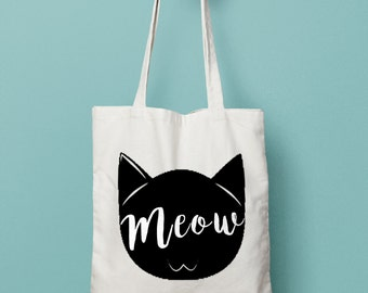 Cat Meow Canvas Bag