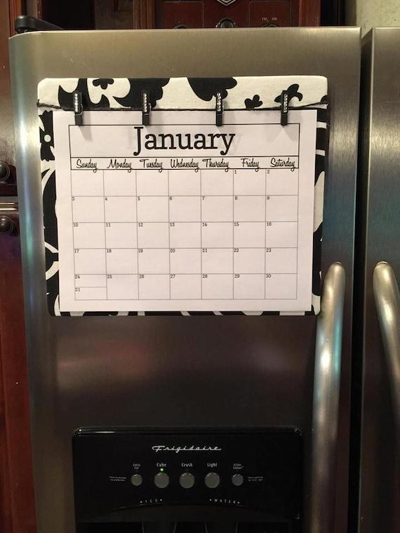 Blank Magnetic Calendar Refrigerator : Refrigerator calendar board organization