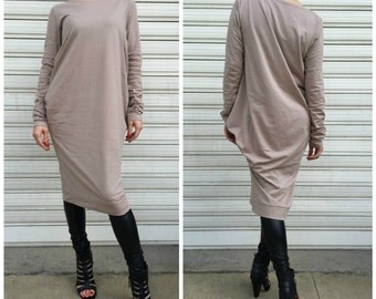 Asymmetric Tunic Top / Extra Long Sleeves Tunic Dress / Loose Maxi Blouse / Oversize Top / EXPRESS SHIPPING