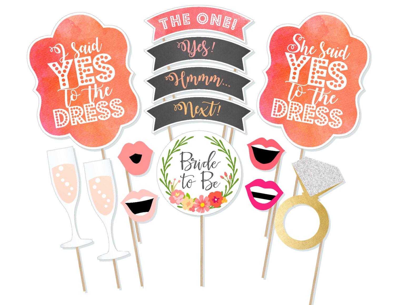 Printable Say Yes to the Dress Photo Booth Props Dress