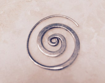 Silver spiral earrings - handmade in Cairo