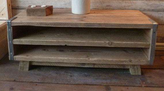 rustic industrial scaffold board tv unit by oxrusticfurniture. Black Bedroom Furniture Sets. Home Design Ideas