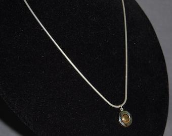 Two Tone Button Necklace ~ Vintage