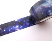 Galaxy washi tape, Night sky tape, Stationery geek, Gift wrapping, Baby boy gift, Wide masking tape, Stationery gift, Handmade card decor