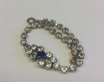 Vintage Art Deco sparkly paste bracelet. Vintage diamanté bracelet.