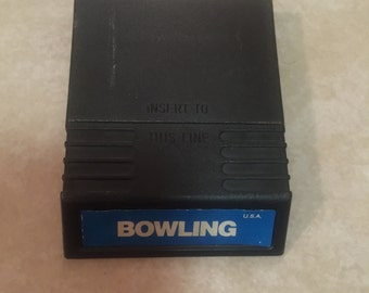 Bowling Intellivision Vintage Game. Works Great.