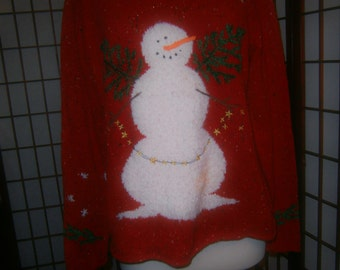 Women's Red Ugly Christmas Sweater