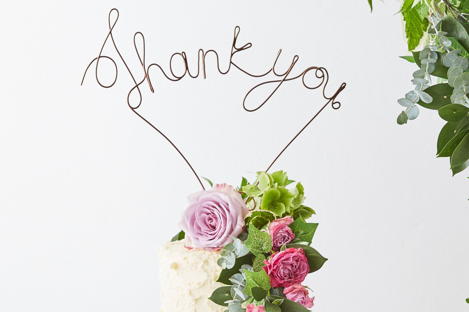 Thank You Cake Topper - Wire Cake Topper - Thanksgiving Cake Topper ...