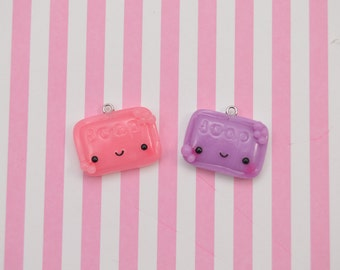 Kawaii Soap Charm, Kawaii Jewelry, Polymer Clay Charm, Cute Accessory