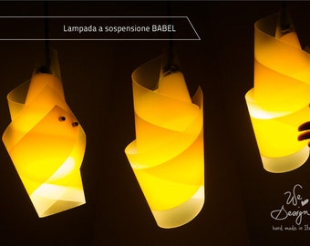"Pendant Lamp_ ""BABEL""_ handmade in Italy_Light Design"