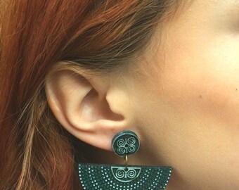DWENNIMMEN, Earthy Aztec earrings, African earrings, Bohemian earrings, Ethnic earrings, Boho earrings, Tribal earrings