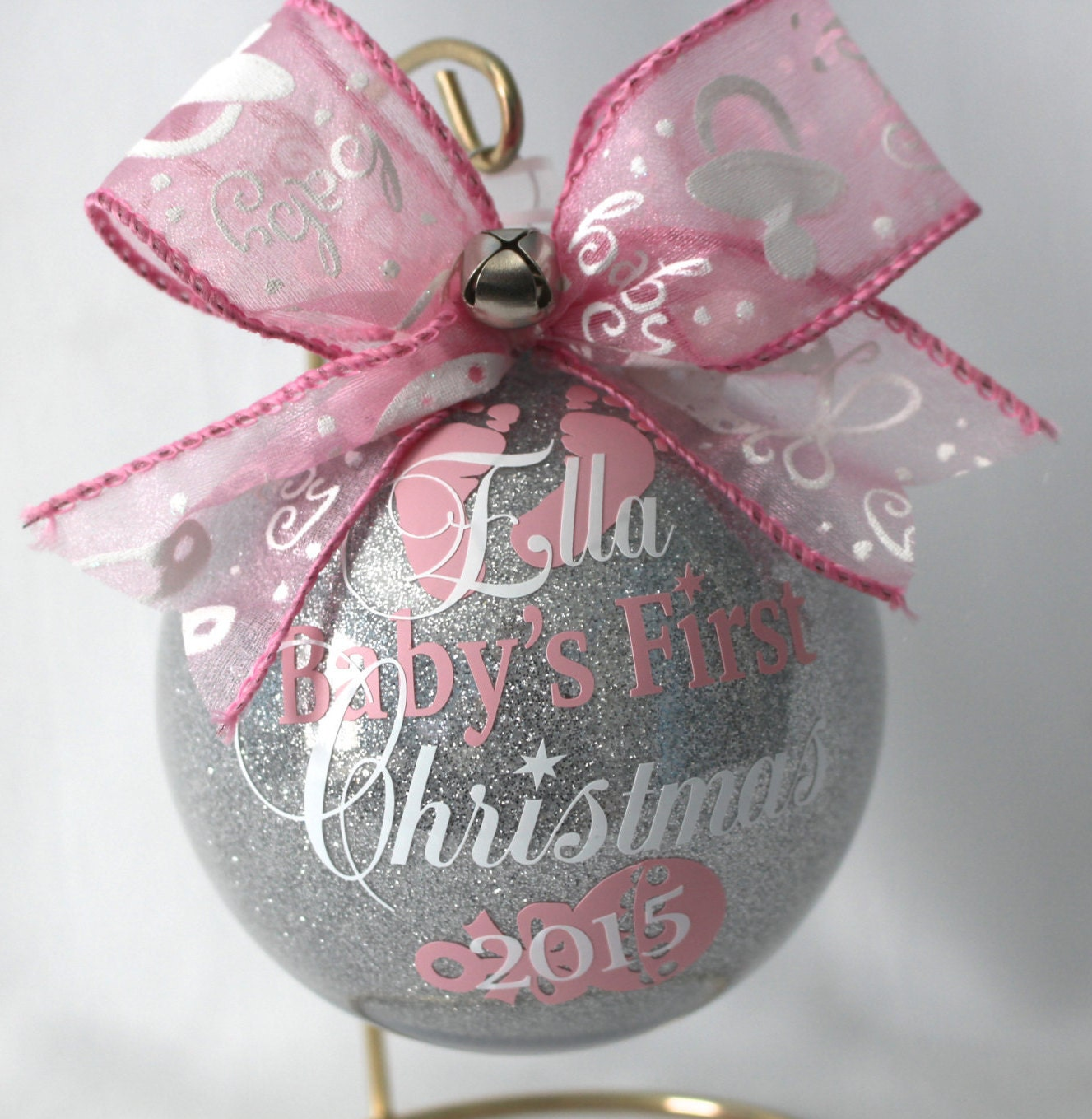 Babys First Christmas Ornament personalized New baby