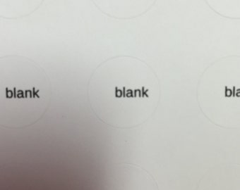 blank label sheets