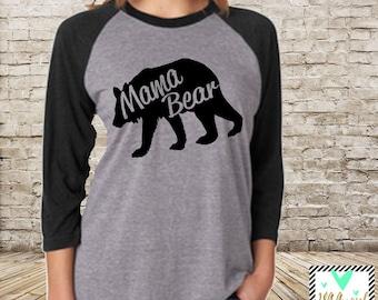 Mama Bear Shirt, Raglan Baseball Shirt, Mama Bear Shirt, Mommy to be Shirt, Baby Mama Shirt, Mom Shirt, Mommy Shirt, Mama To Be RUNS LARGE