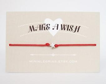 Bracelet, bracelet étoile, bracelet étoile minuscule le souhaitez, faire un bracelet de souhait, souhaitant bracelet, petite étoile bracelet, bracelet minimaliste, bracelet de cheville