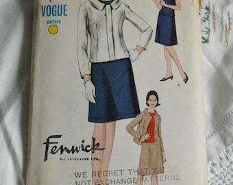 "Vintage dress and jacket pattern, Vogue 6551, 1960s, size 32"" bust"