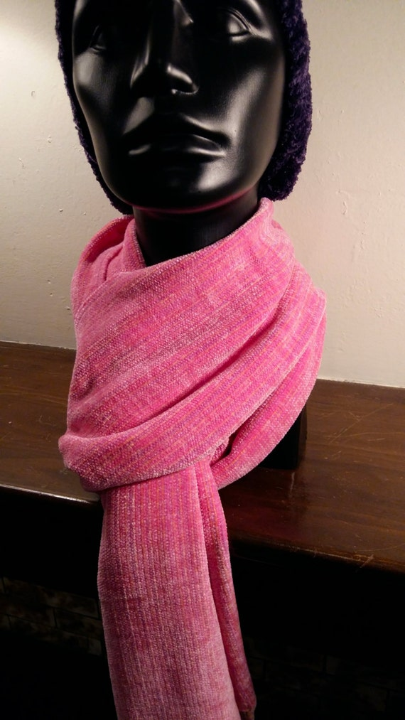 Just A Rose -- Chenille Scarf
