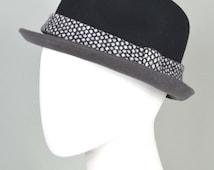"Trilby hat, wool felt, men's hat, unisex hat, winter hat, small brim, ""Cut trilby"""