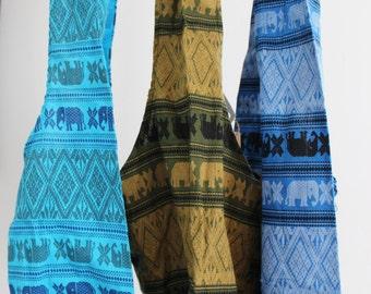 Lilttle Girls Cotton Crossbody Bags/Elephant Thai Cotton Fabric/Children Multicolor Cotton Messenger Bags/Girls Elephant Design Fabric Purse