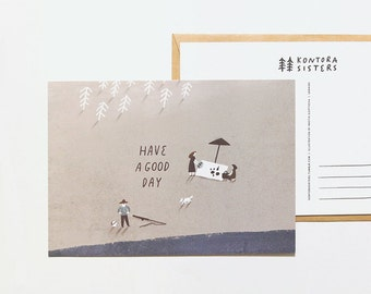 have a good day - postcard
