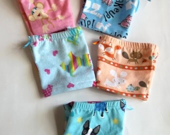 18 inch doll clothes, novelty boxer shorts, sleep shorts, flannel, animals, fits dolls like American Girl