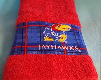 Kansas City Jayhawks Hand Towel