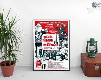 Santa Claus Conquers The Martians poster - print / art - Christmas B Movie  Sci-fi special