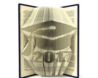 Book folding pattern - Graduate cap 2017 - 253 folds + Tutorial with Simple pattern - Heart - HO0402