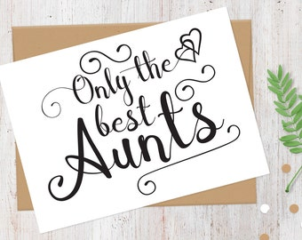Pregnancy Announcement Card | New Great Aunt | Only the Best Aunts Get Promoted to Great Aunt Card | Having a Baby Card | 100% Recycled Card