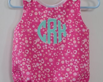 Monogrammed Baby Bubble