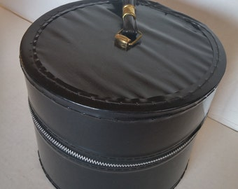 Vintage Patent Leather Hat Box