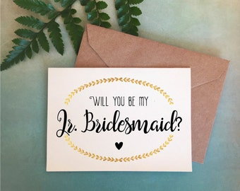 Will You Be My Junior Bridesmaid Card, Junior Bridesmaid Gift, Junior Bridesmaid Proposal, Red Fern Studio