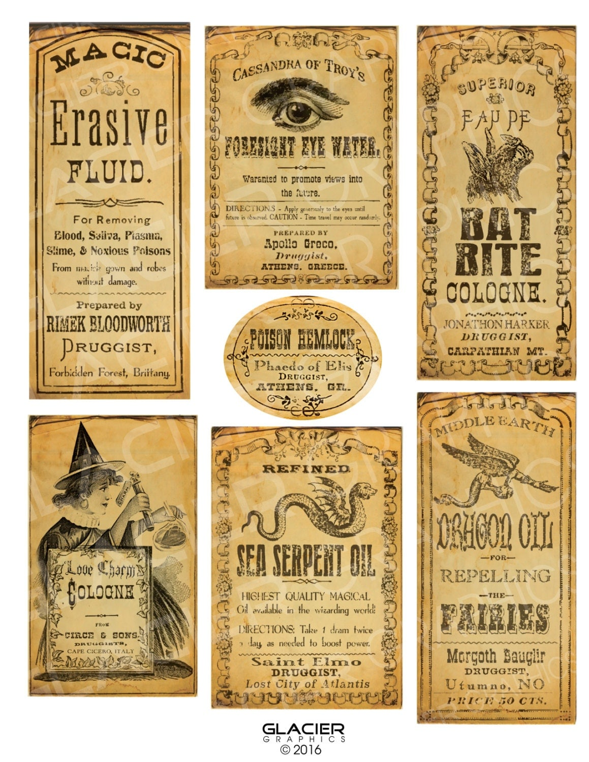 It's just a photo of Gutsy Printable Potion Labels