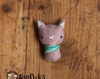 Felt cat - stuffed kitten - toy cat - felt kitten