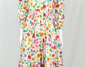 Kenzo Floral Shirt Dress - 70s / 80s