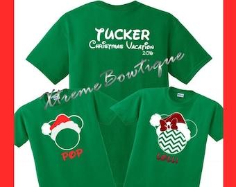 Christmas Disney Shirts, Family Disney Shirts Christmas, Matching Disney Christmas Shirts, Disney Christmas Shirts