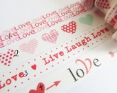 Love Washi Tape Sampler, Masking Tape Sampler für kikki k, filofax, Happy Planner or Erin Condren