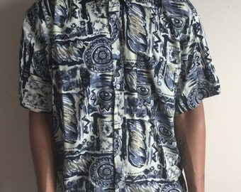 Vintage Floral Aztec Shirt
