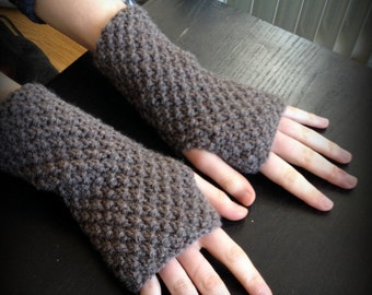 Knitting Pattern, INSTANT DOWNLOAD PDF, Fingerless Gloves / Mittens / Wrist Warmers / Arm Warmers, Beginner to Intermediate