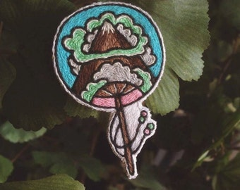 mountains brooch