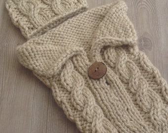 Newborn Cocoon,Baby Cocoon,Cable Knit Cocoon, Cocoon for Newborn, Hand Knit Cable Stitch Cocoon,